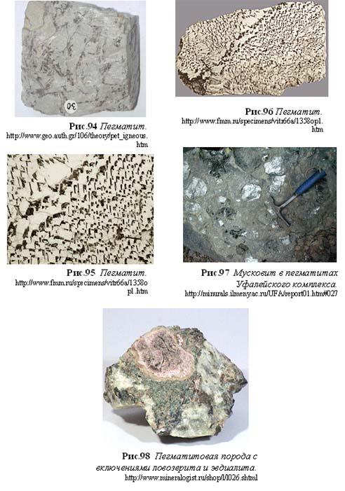 Магматические горные породы.
